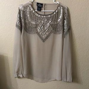 Shear beaded blouse